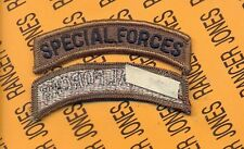 US ARMY SPECIAL FORCES SF OD Green Black TAB patch m/e