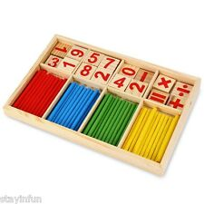 Montessori Mathematical Intelligence Stick Digital Figure Game Box Block Toy Hot