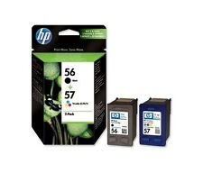 1 X C6657AE HP 57 C6657A +  Black HP 56 C6656A ORIGINAL INK CARTRIDGE 2016 STOCK