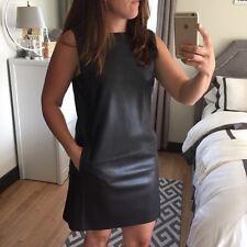 Zara Black Faux Leather Dress Size X SMALL BNWT