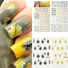 New Fashion Design 3D Feather Water Nail Art Decal Sticker Nail Tips Decoration