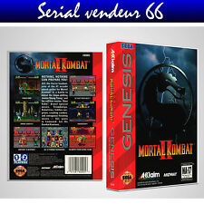 "BOX, CASE ""MORTAL KOMBAT 2"". MEGADRIVE. BOX + COVER PRINTED. NO GAME. ENGLISH."