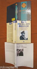 Lotto 3 libri Mussolini denis mack smith benito la seconda guerra mondiale saggi