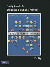 Student Solutions Manual for Basic Business Statistics by Timothy C....