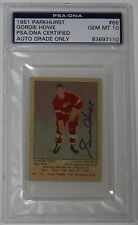 GORDIE HOWE SIGNED 1951 PARKHURST PSA/DNA ROOKIE CARD RED WINGS MINT 10 AUT0