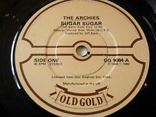 "THE ARCHIES - SUGAR SUGAR    7"" OLD GOLD VINYL"