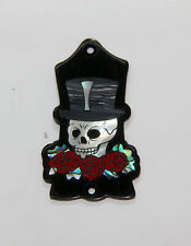 Truss Rod Cover with Skull, Hat & Roses Inlay will fit Gibson