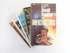 Lot (5) DONALD HAMILTON Books Assassins Starry Eyes Poisoners Fire Terminators