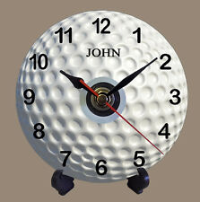 Personalised Golf Ball Quartz CD Clock Present Gift Dad Uncle Grandad