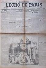 WW1 GUERRE 1914 - 1918 LOT 27/30 JOURNAL L ECHO DE PARIS NOVEMBRE 1916 SOMME