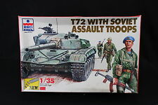YC025 ESCI 1/35 maquette tank char 5031 T72 with Soviet Assault Troops