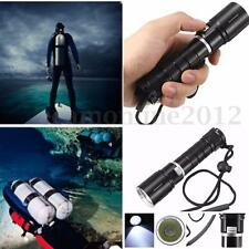 5000LM T6 LED Linterna Buceo Submarino Flashlight Diving+2x 18650+ Cargador