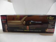 "Gold N Hot GH2151 1-1/4"" Professional Ceramic Spring Curling Iron 200F - 400F"