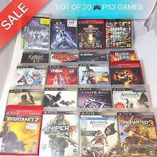LOT OF 20 PLAYSTATION 3 GAMES PS3 GAMES * PLEASE READ * FREE SHIPPING *