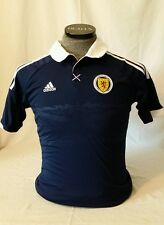 Adidas SCOTLAND SCOTTISH HOME FOOTBALL SOCCER JERSEY Tartan Army SMALL