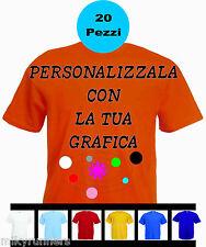 20 Magliette T-shirt Arancione Personalizzate con le vostre scritte loghi foto.