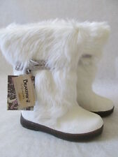 BEARPAW ASHBURRY WINTER COW HAIR COMFORT BOOTS SIZE 9 - NEW