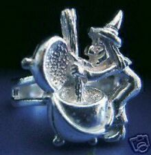 LOOK Witch brew Cauldron Sterling Silver 925 Ring Halloween Celtic witchcraft Je