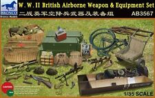 Bronco 1/35 WWII British Airborne di armi e attrezzature Set # ab3567