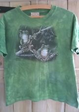 Authentic The Mountain T-shirt - green tie-dye with frogs,  Kids XL, age 14-16