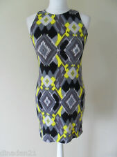 Paul's Boutique bodycon dress, size 10 (M) aztec, yellow/grey, short, brand new