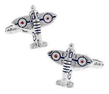 Pilot Plane RAF Spitfire Cufflinks - UK Seller