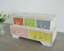 Wooden Shabby Chic Drawer Cabinet Storage Unit Jewellery Box Chest Small Items