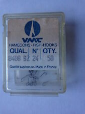VMC quality fish hooks 8406 bronze size 24 box of 50 spade end
