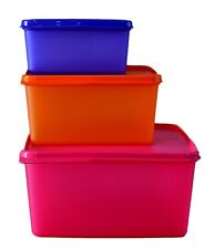 TUPPERWARE KEEP TAB SET OF 3 PCS (2.5 LTR + 1.2 LTR + 500 ML) - NEW BRIGHT COLOR