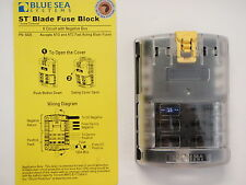 FUSE TERMINAL BLOCK 5025 BLUE SEA 6 CIRCUIT WITH NEGATIVE BUS ST BLADE STYLE