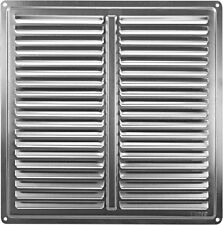 "Stainless Steel Air Vent Grille Cover 250x250mm (10x10"") Metal Ventilation Cover"