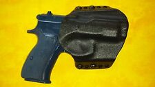 HOLSTER BLACK CARBON KYDEX CZ 75 SP-01 OWB Outside Waistband