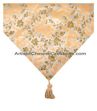 Chinese Home Decor: Chinese Silk Table Runner - Dragon Symbols