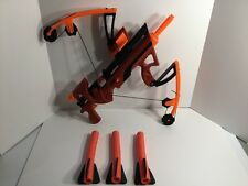 Nerf Big Bad Red Bow Pump Action Crossbow Xbow W/ 3 Arrows Works
