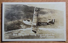 1923 REAL ORIGINAL PHOTO NAVY H-16 FLYING BOAT SHOWING COCKPIT AERIAL GUNNERY