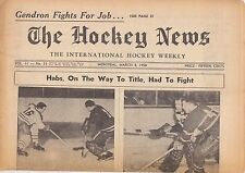 MARCH 8, 1958 HOCKEY NEWS - MONTREAL CANADIENS  BELIVEAU  RICHARD  ON COVER
