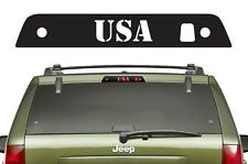 Vinyl Decal 3rd Brake Light USA Wrap Kit for Jeep Grand Cherokee 2005-2010 Black