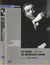 Le crime de Monsieur Lange (1936, Jean Renoir) DVD NEW