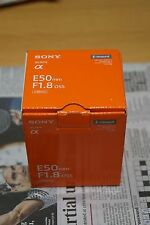 Sony SEL SEL50F18 50mm F/1.8 OSS Lens. e-Mount. Silver. UK stock. Brand new. UK.