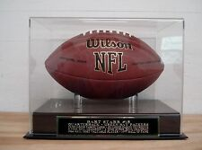 Football Display Case With A Bart Starr Green Bay Packers Nameplate