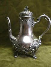 19th c french sterling silver (minerve 950) coffee pot Louis XV rococo st 590gr