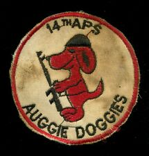 USAF 14th Air Police Squadron Auggie Doggies Vietnam Patch S-18