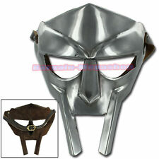 STEEL GLADIATOR FACE MASK Hand-Forged sca-larp-helmet-roman-armor-mf doom
