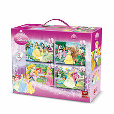 4 IN 1 CHILDRENS GIRLS PINK DISNEY PRINCESS CINDERELLA JIGSAW PUZZLE 05136