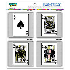 Playing Cards Spades Ace Jack Queen King - SLAP-STICKZ™ Window Bumper Stickers