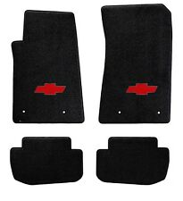 NEW! BLACK FLOOR MATS 2010-2015 Camaro Embroidered BowTie Logo 4 pc SET