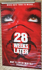 28 WEEKS LATER MOVIE BANNER HUGE ORIGINAL VERY RARE 60x98 JEREMY RENNER