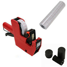 MX-5500 8 Digits Price Tag Gun + 5000 White with Red lines  labels +1 Ink