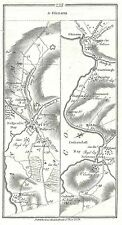 Antique map, Roads from Londonderry to Glenarm (2), Newtown Limavady to Newferry