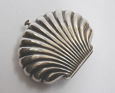 Antique Victorian Silver Scallop Shell Coin Purse c.1880 - WM / Unmarked Silver